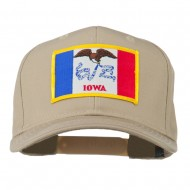 Middle State Iowa Embroidered Patch Cap - Khaki