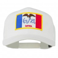Middle State Iowa Embroidered Patch Cap - White