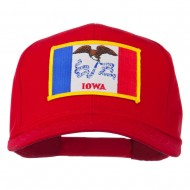 Middle State Iowa Embroidered Patch Cap - Red