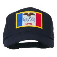 Middle State Iowa Embroidered Patch Cap - Navy