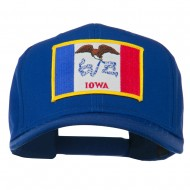Middle State Iowa Embroidered Patch Cap - Royal