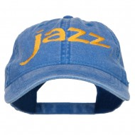 Jazz Embroidered Cotton Cap - Royal