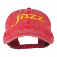 Jazz Embroidered Cotton Cap - Red