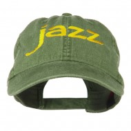 Jazz Embroidered Cotton Cap - Olive Green