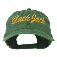 Black Jack Embroidered Washed Cap - Dark Green