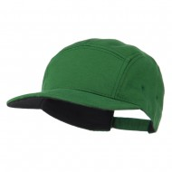 Jersey Fabric 5 Panel Snapback Cap - Green