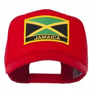 Jamaica Flag Letter Patched High Profile Cap - Red
