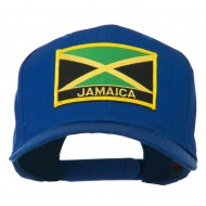 Jamaica Flag Letter Patched High Profile Cap - Royal