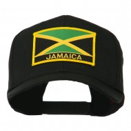 Jamaica Flag Letter Patched High Profile Cap - Black