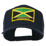 Jamaica Flag Letter Patched High Profile Cap - Navy