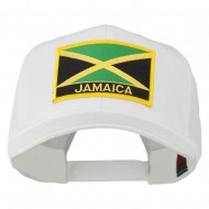 Jamaica Flag Letter Patched High Profile Cap - White