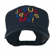 Jesus Loves Me Embroidered Cap - Navy