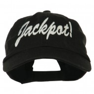 Jackpot Embroidered Washed Cap - Black