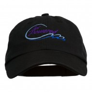 Jet Powered with wave Embroidered Washed Cap - Black