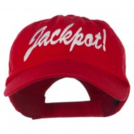 Jackpot Embroidered Washed Cap - Red