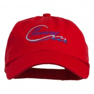 Jet Powered with wave Embroidered Washed Cap - Red