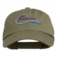 Jet Powered with wave Embroidered Washed Cap - Olive