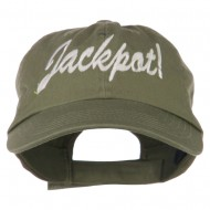 Jackpot Embroidered Washed Cap - Olive