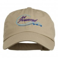 Jet Powered with wave Embroidered Washed Cap - Khaki