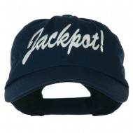Jackpot Embroidered Washed Cap - Navy