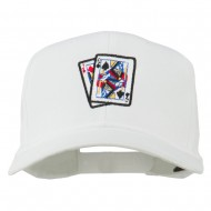 Pinochle Card Game Embroidered Cotton Twill Cap - White