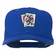 Pinochle Card Game Embroidered Cotton Twill Cap - Royal