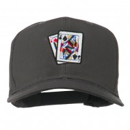 Pinochle Card Game Embroidered Cotton Twill Cap - Charcoal