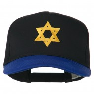 Jewish Star Embroidered Pigment Dyed Cap - Royal Black