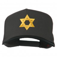 Jewish Star Embroidered Pigment Dyed Cap - Black Charcoal