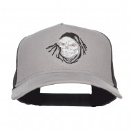 Grim Ripper Embroidered Jersey Mesh Cap - Heather Charcoal