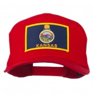 Middle State Kansas Embroidered Patch Cap - Red