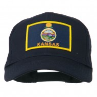 Middle State Kansas Embroidered Patch Cap - Navy