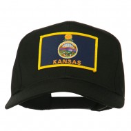 Middle State Kansas Embroidered Patch Cap - Black