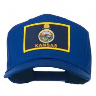 Middle State Kansas Embroidered Patch Cap - Royal
