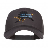 Alaska Last Frontier State Embroidered Trucker Cap - Charcoal Grey