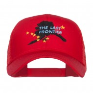Alaska Last Frontier State Embroidered Trucker Cap - Red