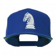 Chess Piece of a Knight Embroidered Flat Bill Cap - Royal