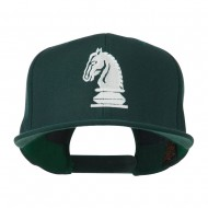 Chess Piece of a Knight Embroidered Flat Bill Cap - Spruce