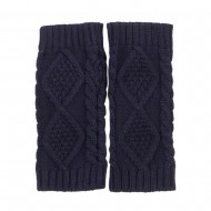 8 Inches Knit Hand Warmer - Navy