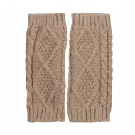 8 Inches Knit Hand Warmer - Taupe