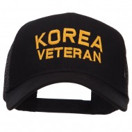 Korea Veteran Embroidered Mesh Cap - Black