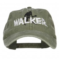 Halloween Walker Embroidered Washed Cap - Green
