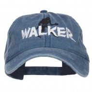 Halloween Walker Embroidered Washed Cap - Navy