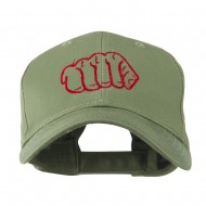 Karate Fist Sports Embroidered Cap - Olive