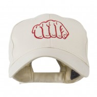 Karate Fist Sports Embroidered Cap - Stone