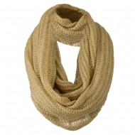 Knit Snood Solid Scarf - Tan