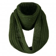 Knit Snood Solid Scarf - Olive