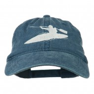 Sports Kayak Embroidered Washed Dyed Cap - Navy