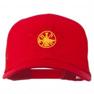 Fire Dept Ladies Auxiliary Embroidered Mesh Cap - Red