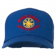 Fire Dept Ladies Auxiliary Embroidered Mesh Cap - Royal